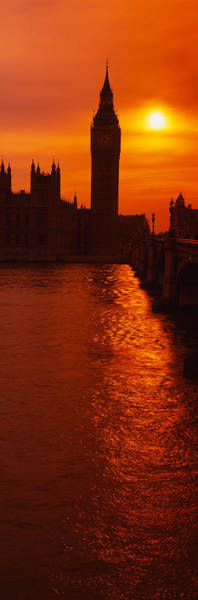 Houses Of Parliament Wall Art - Photograph - Silhouette Of A Government Building by Panoramic Images