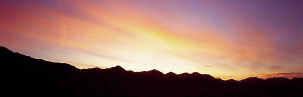 Wall Art - Photograph - Silhouette Of A Mountain Range by Panoramic Images