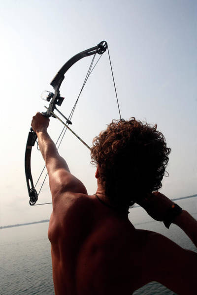 Archery Photograph - Silhouette Of A Young Man Doing Archery by R&d Foto