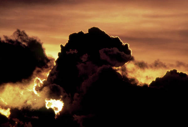 Cumulus Photograph - Silhouette Of Cumulus Cloud Blocking Out The Sun by Pekka Parviainen/science Photo Library