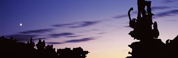Peacefulness Photograph - Silhouette Of Rock Formations, Teapot by Panoramic Images