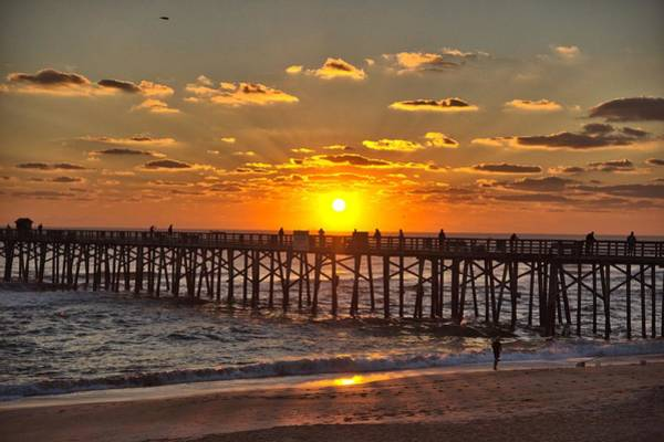 Flagler Beach Photograph - Silhouette Of The Pier by David Jordan