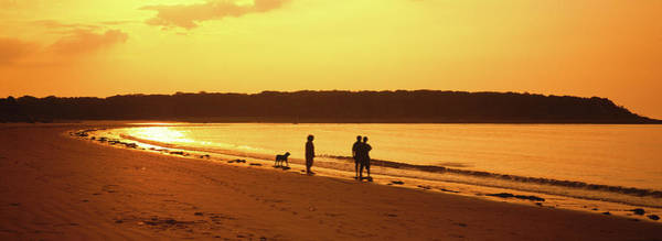 Kennebunkport Maine Photograph - Silhouette Of Three People Standing by Animal Images