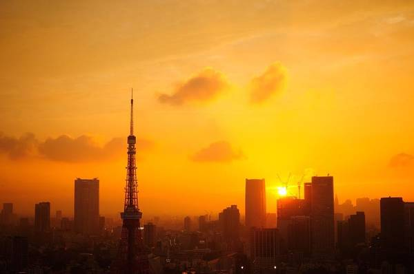 Silhouette Photograph - Silhouette Tokyo Tower Against by Daisuke Ito / Eyeem