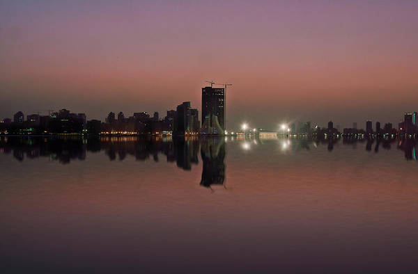 Bahrain Photograph - Silhouetted Skyline by Wajahat