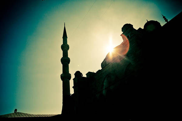 Photograph - Silhouettes Of Blue Mosque Istambul Turkey by Raimond Klavins