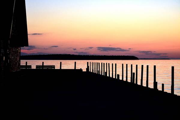 Wall Art - Photograph - Silhouettes On Anderson Dock by Karen Majkrzak