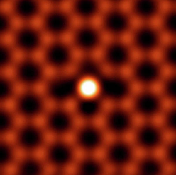 Oak Ridge National Laboratory Photograph - Silicon Atom In Graphene by Ornl