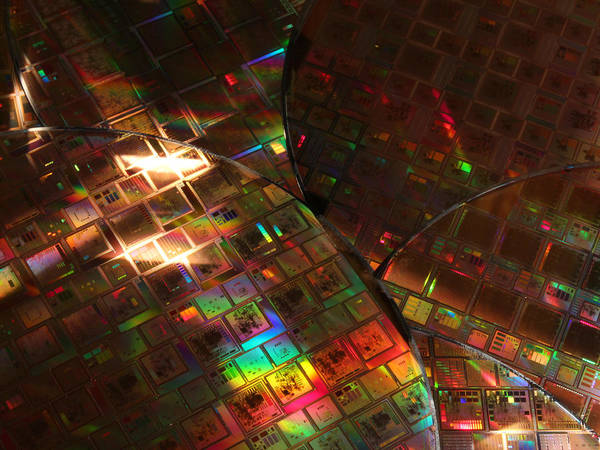 Photograph - Silicon Wafers With Integrated Circuits by Science Source