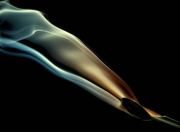 Abstract Smoke Photograph - Silk by Aida Ianeva