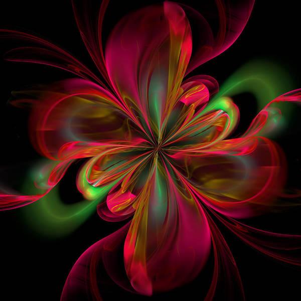 Algorithm Digital Art - Silk Butterfly Abstract by Georgiana Romanovna