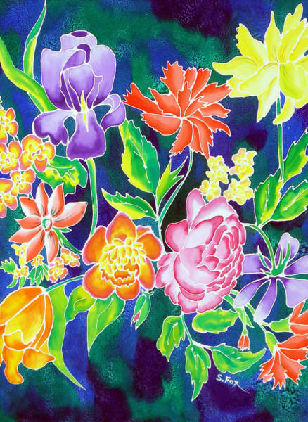 Painting - Silk Floral 1 by Sandra Fox