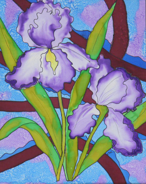 Painting - Silk Iris by Sandra Fox