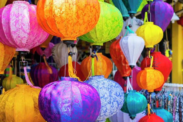 Quang Nam Province Photograph - Silk Lanterns For Sale On The Street by Jason Langley