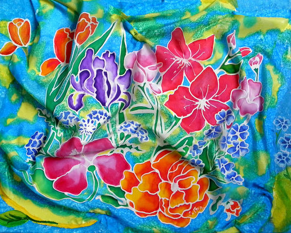 Painting - Silk Summer Bouquet by Sandra Fox