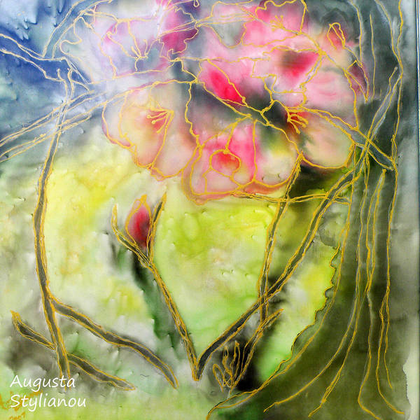 Almond Painting - Silky Almond Flower by Augusta Stylianou