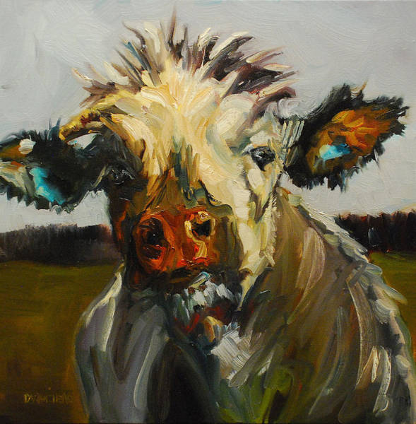 Wall Art - Painting - Silly Cow by Diane Whitehead
