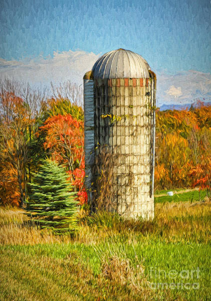 Photograph - Silo In Vermont by Deborah Benoit
