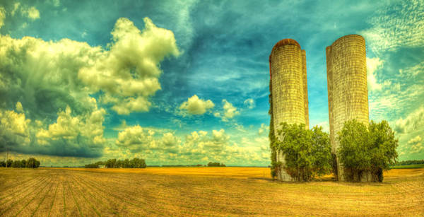 Silo Photograph - Silos by  Caleb McGinn