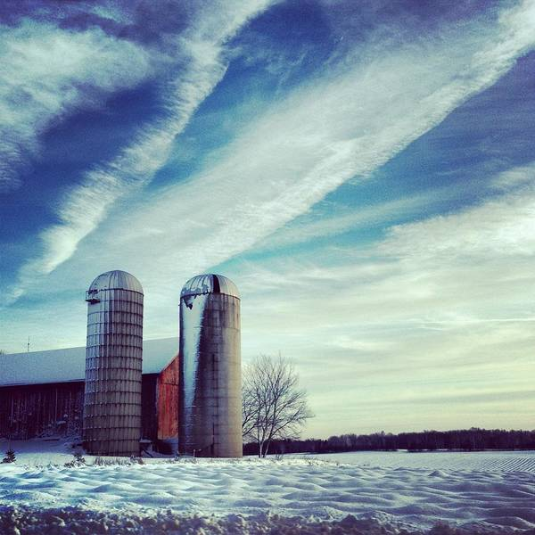 Silo Photograph - Silos by Jeff Klingler
