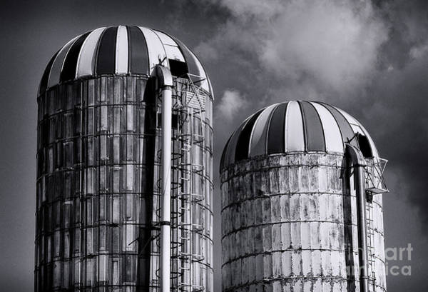 Photograph - Silos by Mark Miller