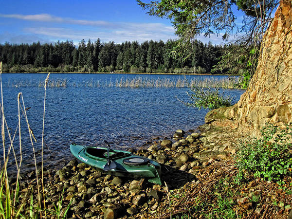 Photograph - Siltcoos Lake Kayak View by Lara Ellis