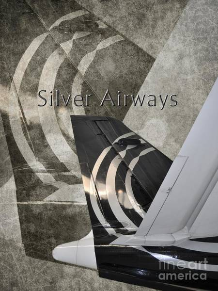 Diane Berry Photograph - Silver Airways Tail Logo by Diane E Berry