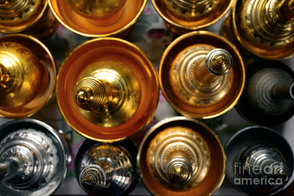 Wall Art - Photograph - Silver And Gold Oil Lamps by Dean Harte