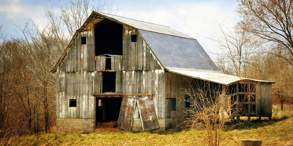 Photograph - Silver Barn Long by Marty Koch