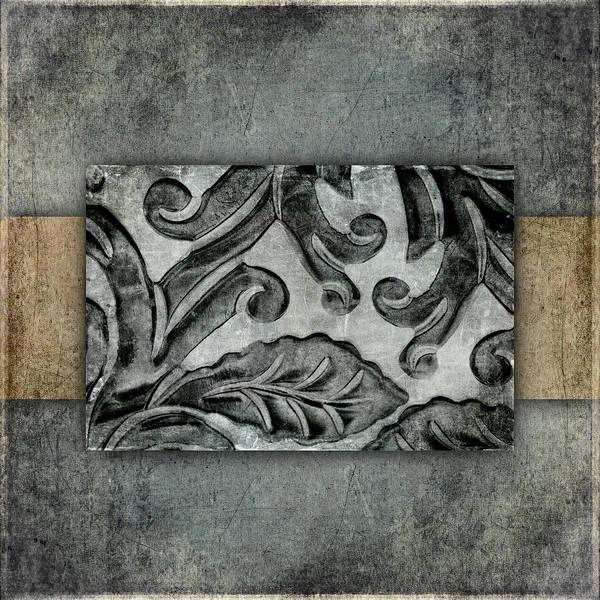 Organic Mixed Media - Silver Bracelet Detail 1 by Carol Leigh