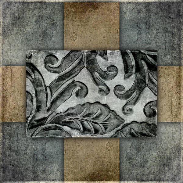 Organic Mixed Media - Silver Bracelet Detail 2 by Carol Leigh