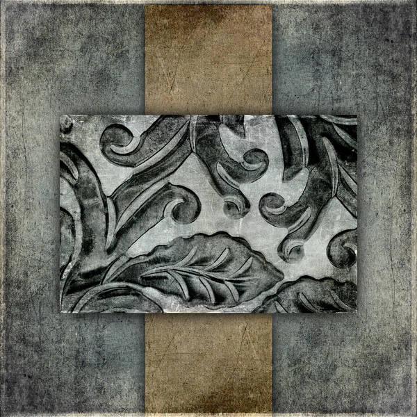 Organic Mixed Media - Silver Bracelet Detail 3 by Carol Leigh