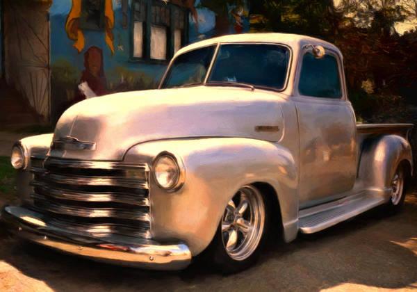 Custom Truck Painting - Silver Bullet by Michael Pickett