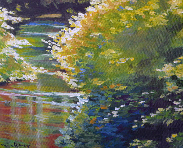Waterway Painting - Silver Creek Foliage by Melody Cleary