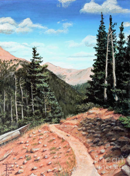 Painting - Silver Dollar Trail Colorado by Art By - Ti   Tolpo Bader