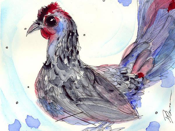 Silver Hen Art Print