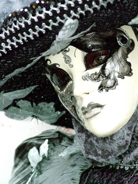 Silver Lacy Eyes Art Print