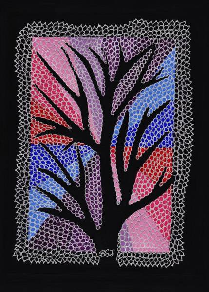 Doily Painting - Silver Maple by Barbara St Jean
