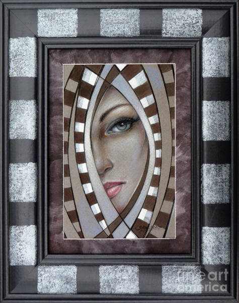 Painting - Silver Memories 220414 Framed by Selena Boron