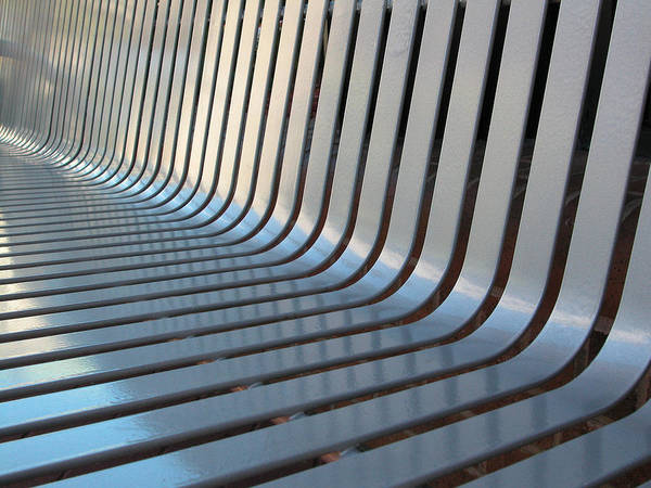 Photograph - Silver Painted Bench by Rob Huntley