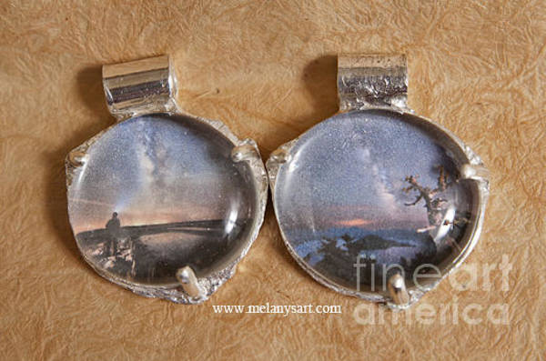 Jewelry - Silver Pendants With Night Sky Photo by Melany Sarafis