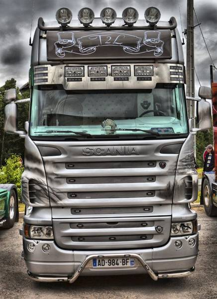 Freightliner Wall Art - Photograph - Silver Scania by Mick Flynn