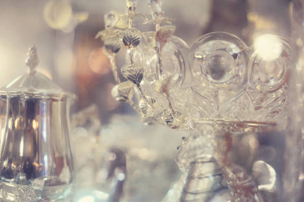 Photograph - Silver Table Set by Jenny Rainbow