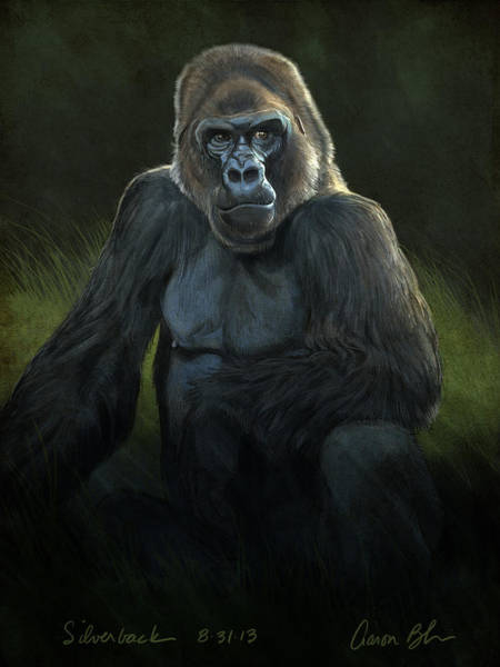 Wall Art - Digital Art - Silverback by Aaron Blaise