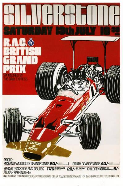 Formula 1 Digital Art - Silverstone Grand Prix 1969 by Georgia Fowler