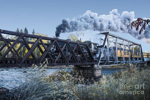 Photograph - Silverton Train Crossing Bridge by Tim Mulina
