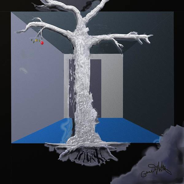 Painting - Silvertree Last Fruit by Eugene Foltuz