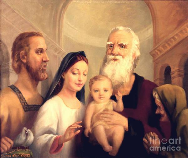 Simeon In The Temple Art Print