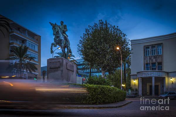 Photograph - Simon Bolivar Roundabout Cadiz Spain by Pablo Avanzini