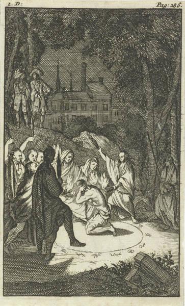 Pleasure Drawing - Simon, The Lovelorn Cook, The Fortune Teller by Caspar Luyken And Pieter Van Rijschooten